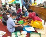 Antusiasme tampak terlihat dari para peserta dari berbagai daerah meliputi Waru Sidoarjo, Bangkalan, dan masyarakat Lobuk, saat praktek pembuatan olahan rumput laut.