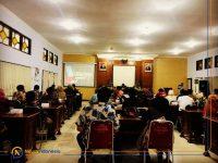 Badan Perencanaan Pembangunan Daerah saat mengadakan FGD Rancangan Teknokratik RPJMD Kabupaten Sumenep Tahun 2021-2025, bertempat di Ruang Rapat Jokotole Bappeda Kabupaten Sumenep.