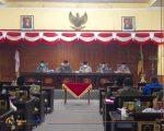 BERLANGSUNG: Sidang Paripurna akhir tahun 2020 DPRD Sumenep (Foto: Wakid Maulana)