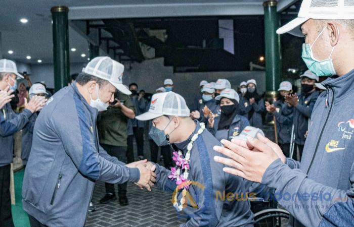 Caption: Bupati Jember Hendy Siswanto Menerima Kunjungan Komisi E DPRD Jatim di Pendapa Wahyawibawagraha.
