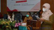 Foto: Wakil Bupati Sumenep, Hj. Dewi Khalifah, saat Lokakarya Penanggulangan TBC di masa pandemi COVID-19, di Aula Kantor Bappeda Kabupaten Sumenep.