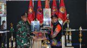 Foto: Bupati Sumenep, Achmad Fauzi, saat mengunjungi Kesatrian Yunif 1 Marinir Juanda, Surabaya.