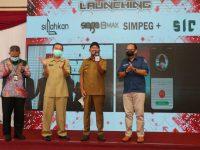 Foto: Bupati Sumenep, saat launching aplikasi Siaga Pro Max, Silahkan dan Simpeg Plus, Senin (28 Juni 2021).