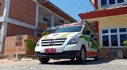 Caption: Salah satu mobil ambulans yang dimiliki RSUD Moh Anwar Sumenep, terparkir di depan ruang Puspa-RS.